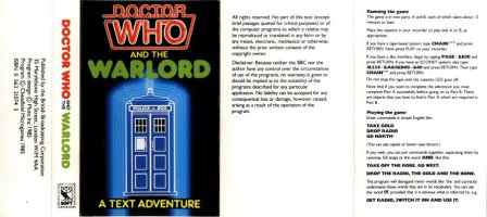 Dr Who And The Warlord box cover